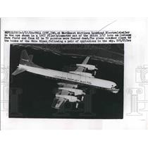 1960 Press Photo Northwest Airlines Lockheed Electra Plane Crash Ohio River