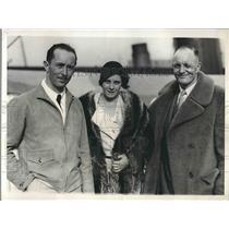 1941 Press Photo pilots Gordon Maunce & Maj. Reuben Fleet & wife to tour Europe