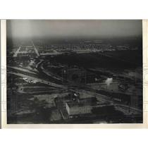 1933 Press Photo Aerial View of Brownsville, Texas
