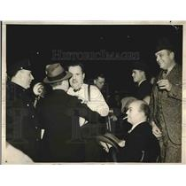 1938 Press Photo Jack Miley & Ed Van Avery sports writers get in fist fight