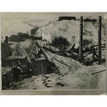 1926 Press Photo Bingham Utah Snow Slide