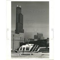 1981 Press Photo Helicopter Continental Bank - RRT06641