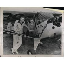 1939 Press Photo Humphrey & Hunter Moody,brothers with their small monoplane