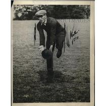 1921 Press Photo Carpentier During Football Workout