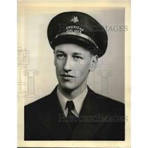 1938 Press Photo W. Henry Osborne First Officer American Airlines Pilot