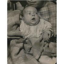 1920 Press Photo A close up of the baby of Mrs JC Tsagarden