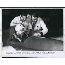 1956 Press Photo Pilot John Scovile in his experimental plane