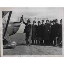 1939 Press Photo Flyer Casey Jones during N.Y. Univ. Student Air Training