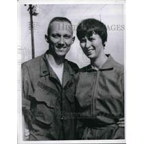 1968 Press Photo Lamar Krittle Carol Guth Timberlake Ohio Pilots