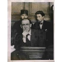 1935 Press Photo Robert Gordon Switz American Spy Released in Paris