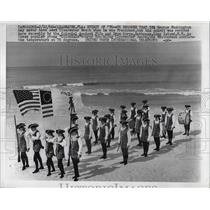 1966 Press Photo Colonial Ancient Fife & Drum Corps March On Clearwater Beach