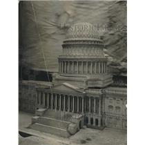 1923 Press Photo Scale Model Of Capitol Building On Display