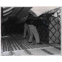 1967 Press Photo United Air Lines Cargo Compartment