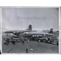 1946 Press Photo Lockheed Air Terminal Burkbank, Ca