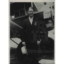 1939 Press Photo Charles Backman Flys the Atlantic To Sweden