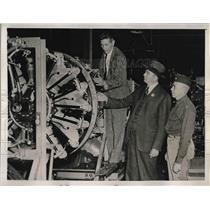 1941 Press Photo Major General Ernest Peek at North American Aviation Plant