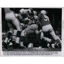1955 Press Photo Rams Tom Fowler at game vs lions