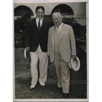 "1936 Press Photo John W. Haussermann, ""Gold King"", Vicente Villamin"