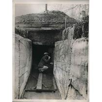 1935 Press Photo 1st Housing Development Gas Proof & Bomb Proof