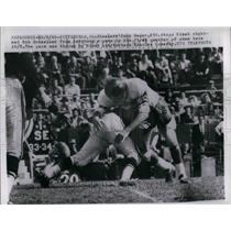 1960 Press Photo Steelers John Roger and Giants Bob Schnelker