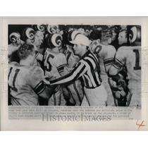 1951 Press Photo Rams players after a game