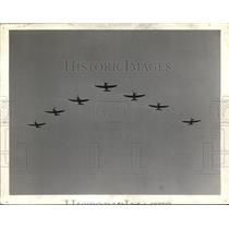 1941 Press Photo 7 Planes