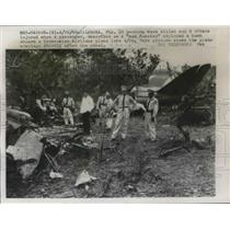 1960 Press Photo Calaboza, Fla. Venezuelan airline wreckage