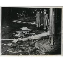 1934 Press Photo Royalists Beaten & Arrested in Riots in Paris