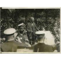 1928 Press Photo Galush Cole celebrates his 102nd birthday in Memorial Park
