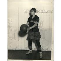 1929 Press Photo Helen Sorenn of high school basketball team - nes03155