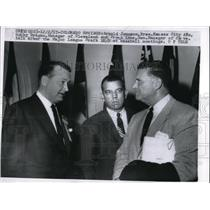 1957 Press Photo Kansas City President Arnold Johnson & Bobby Bragan Mgr Clevela