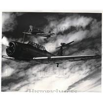 1942 Press Photo Kelly Field Flying Students in Traffic Pattern Formation