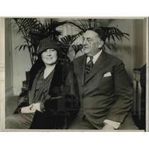 "1927 Press Photo Former Princeton ""Big Bill"" William Edwards, Fiance Steelsmith"