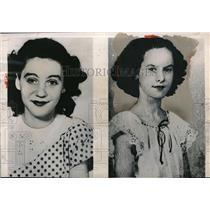 1949 Press Photo Joan Glessner & Rose Sharon Kennedy W Virginia
