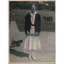 1922 Press Photo Miss Marjorie Thorn at tennis , Jr Champion