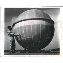1960 Press Photo King Sized Medicine ball Ballute Balloon