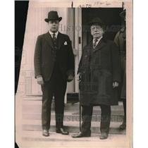 1920 Press Photo Luis N.Morones, Labor Party Sec of Mexico with Samuel Gompers.