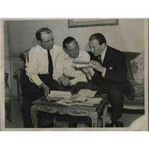 1934 Press Photo Maurice Rossi,Paul Codos & Charles De Fontnouvelle