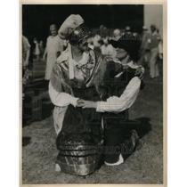 1930 Press Photo Rose Basca & Jeane Petkovsek native Slovenians in their