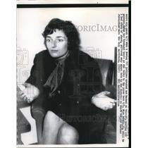 1962 Press Photo Miss Authie, Survivor of Boeing 707 Jetliner Crash