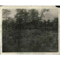 1918 Press Photo Scene in folm Why America will Win of a german 75 mile gun