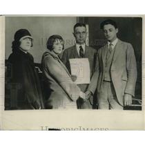 1924 Press Photo Kenneth Goulet and Bride of Detroit, Michigan