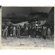 1929 Press Photo Sam Taylor's plane force down at 69th and Denison, Cleveland