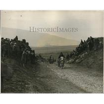 1928 Press Photo Motorcycles on Stake Moss on Whitsuntide London to Edinburgh