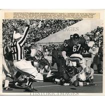 1971 Press Photo John Brockington, Green Bay Packers, George Seals Chicago Bears