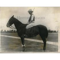 1923 Press Photo British Army polo player FJ Atkinson to play vs US in NY