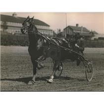 1920 Press Photo Vance Nuckols driving Santas Bay