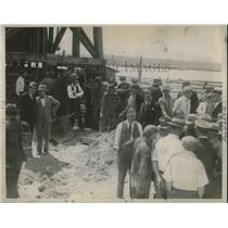 1930 Press Photo Scene from Mt Meyer in Detroit before commencing explosion