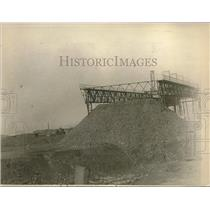 1923 Press Photo Coal at mine in the French Ruhr area being seized