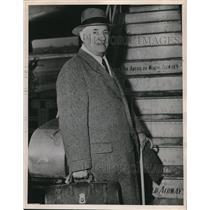 1948 Press Photo James McVittie (was on inaugural flight of Hindenburg)